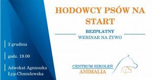 """02. 12. 2020 Udział w webinarium """"Hodowcy psów na start"""""""