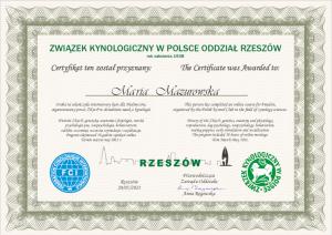 wiosna 2021 r., kurs dla hodowców zorganizowany przez ZKwP/O. Rzeszów