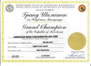 Grandchampion Macedonii